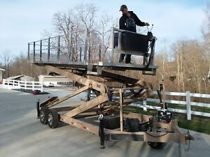 Scissor Lift Shingle And Metal Roofing Buggy