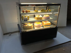 48 Refrigerated Cake Showcase Bakery Dispaly Case Cabinet Right Angel 220v
