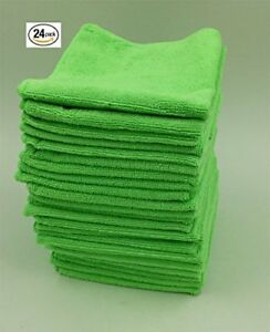 Microfiber Cleaning Cloth Set Of 24 Towel Rag Car Polishing No Scratch Detailing