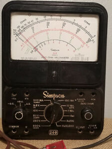 Simpson Model 260 Volt Ohm Meter With Leads Tested And Working