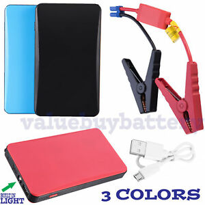 Portable Slim Mini 20000mah Car Jump Starter Engine Battery Charger Power Bank