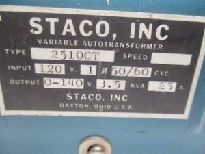 Staco 2510ct Variable Transformer Used
