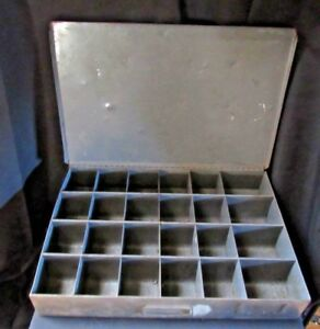 Vintage Industrial Steel Storage Cabinet Parts Tools Drawer With Dividers