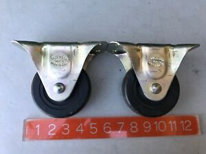 Vintage Set Of 4 Faultless 4 Casters 500 4 Heavy Duty Industrial Made Usa