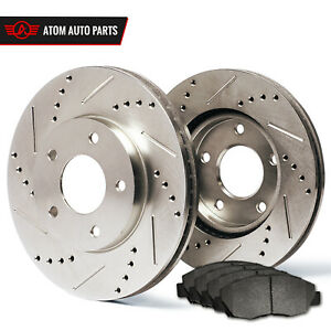 2011 2012 Honda Accord Ex Ex L Slotted Drilled Rotor Metallic Pads Front