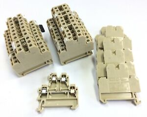 Lot Of 26 Weidmuller Dk4 35 Two tier Terminal Blocks 300v 27a 22 12 Awg Din Rail