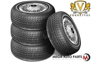 4 X Vogue Tyres Classic White Grand Touring 235 75r15 109t Xl 1 5 Wall Tires