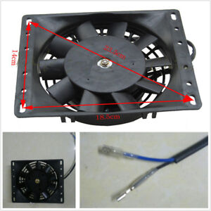 Universal 6 Plastic Car Electric Radiator Fan Cooling 12v Mount Kit 10 Blades