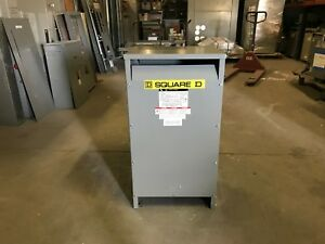 Square D Transformer 25 Kva Pri 480 240 Sec 240 120 Single Phase Ee25s3h