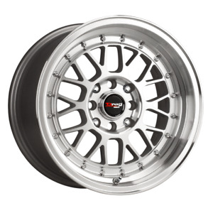 Set 4 15x7 40 4x100 114 3 Drag Dr 44 Silver Wheels Rims 15 Inch 13898