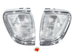 Depo Chrome With Clear Lens Front Corner Lights Fit 95 96 97 Toyota Tacoma 4wd