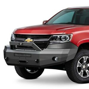 For Chevy Colorado 15 19 Bumper Elevation Series Bull Nose Full Width Black