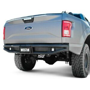 For Ford F 150 2015 2019 Westin Outlaw Full Width Black Rear Pre Runner Bumper