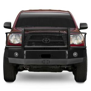 For Toyota Tacoma 05 11 Bumper Heavy Duty Series Full Width Black Front Winch Hd