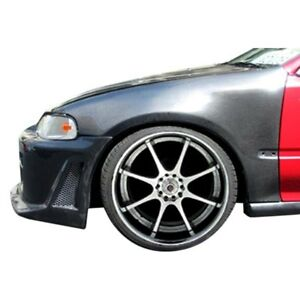For Honda Civic 1992 1995 Carbon Creations 102840 Carbon Fiber Front Fenders