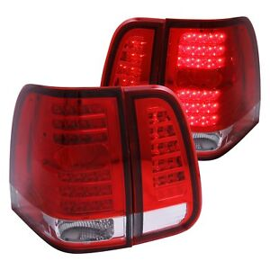 For Lincoln Navigator 2003 2006 Anzo 311076 Chrome Red Led Tail Lights
