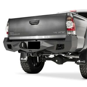 For Toyota Tacoma 12 15 Fab Fours Vengeance Full Width Black Rear Hd Bumper