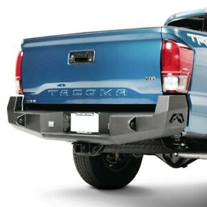 For Toyota Tacoma 16 17 Fab Fours Premium Full Width Black Rear Hd Bumper