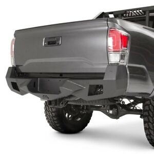 For Toyota Tacoma 16 17 Fab Fours Vengeance Full Width Black Rear Hd Bumper