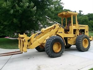 John Deere 544d Wheel Loader With Forks