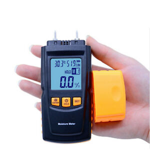 Digital 2 Pins Lcd Wood Moisture Humidity Meter Damp Detector Tester 20 95