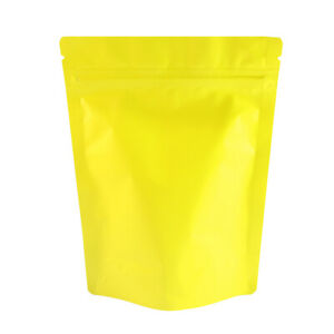 Double Sided Matte Yellow Zip Lock Storage Bags Various Qty 13x18cm 5 1x7 1in