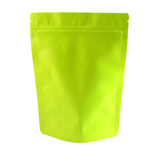 Double Sided Matte Green Zip Lock Storage Bags Different Qty 13x18cm 5 1x7 1in
