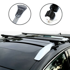 Universal Car Top Luggage Cross Bars Roof Rack Lockable Anti theft Design Black