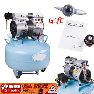 Fda 8mpa Dental Medical Noiseless Oil Free Oilless Air Compressor 30l Polisher