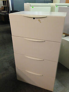 4 Drawer Lateral Size File Cabinet By Haworth Office Furniture W lock