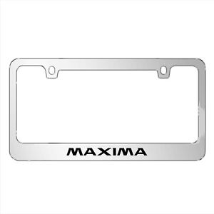 Nissan Maxima Mirror Chrome Metal License Plate Frame