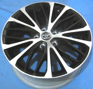 18 Toyota Camry 2018 Oe Alloy Wheels 4 18x8 5x114 3 Machine Black Oem Rims