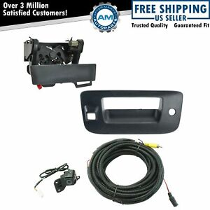 Rear View Camera Add On Kit W Wiring Harness Tailgate Handle Bezel For Chevy