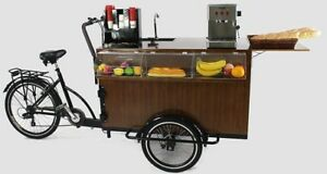 Black Mobile Coffee Cart coffee Bike food Cart hot Dog Cart Be Your Own Boss