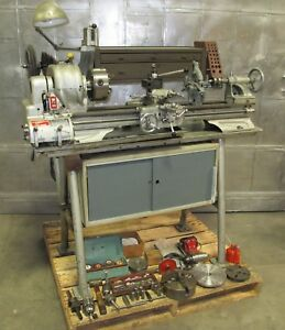Atlas 10 Inch Lathe Model Th48 Lot Of Tooling Vintage Nice Usa Made