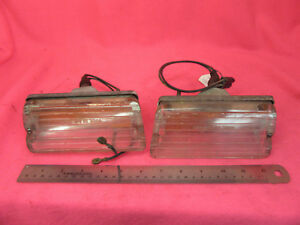 1966 1967 Oldsmobile Toronado Front Signal Parking Lamps Light Housings