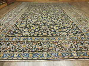 C1940 Vgdy Antique Persian Signed Naein Nain Kashan Design 9x12 Estate Sale Rug