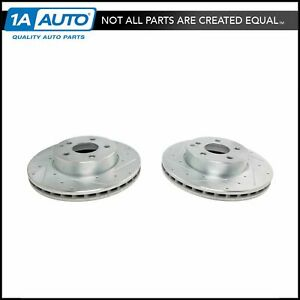 Front Performance Drilled Slotted Zinc Coated Disc Brake Rotor Pair For Mercedes
