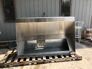 8 Foot Exhaust Hood Commercial Kitchen Stainless Steel