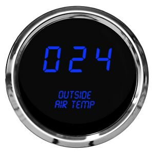 Intellitronix Ms9123b Led Digital Outside Air Temperature Gauge Blue