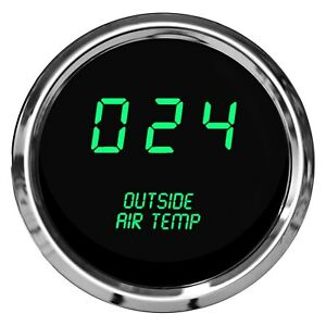 Intellitronix 2 1 16 Led Digital Outside Air Temperature Gauge Green 0 250 F