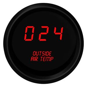 Intellitronix M9123r Led Digital Outside Air Temperature Gauge Red