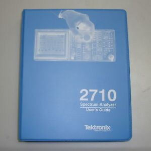 Tektronix 2710 Spectrum Analyzer User s Guide Manual p n 070 7222 01