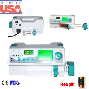 Medical Syringe Pump Ideal For Icu Ccu Audible Visual Alarm Drug Library Kvo Ce