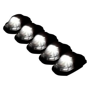For Ford F 250 Super Duty 17 18 Recon 264343whbk Black Smoke Led Cab Roof Lights