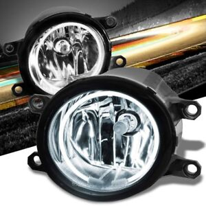 Front Bumper Fog Light Lamp halo Ring Ccfl Drl bulb Clear Lens For 07 13 Camry