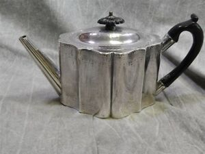 1787 British Sterling Silver Teapot By William Plummer No Monogram