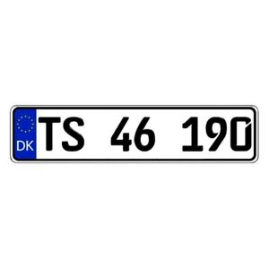 Eurosport Daytona Denmark Custom Authentic Eec Europlate License Plate