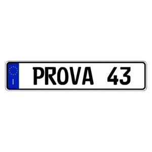 Eurosport Daytona Italy Prova Custom Authentic Eec Europlate License Plate