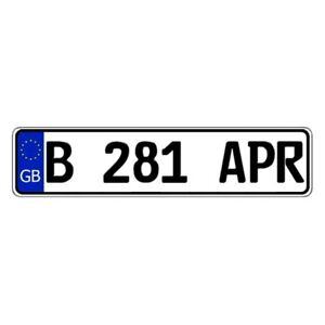 United Kingdom great Britain Custom Authentic Eec Europlate License Plate